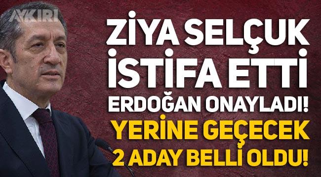 Milli Eğitim Bakanı Ziya Selçuk istifa etti, Erdoğan kabul etti iddiası