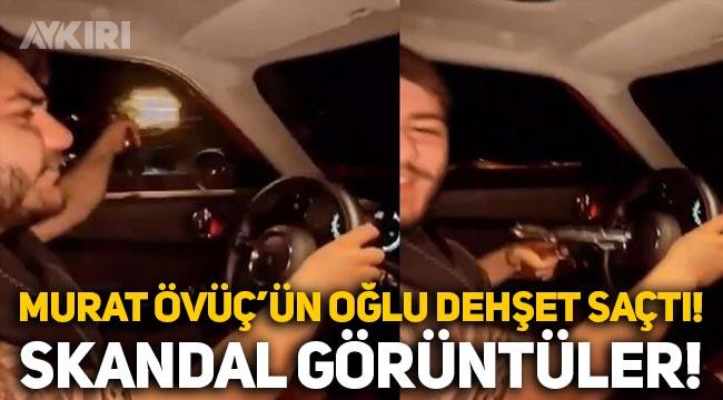 Murat Övüç'ün oğlu trafikte dehşet saçtı! Skandal görüntüler