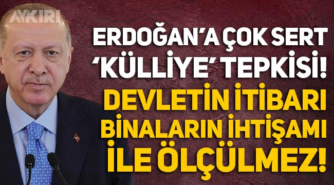 Mustafa Akıncı'dan Erdoğan'ın 'Kıbrıs'a Külliye' açıklamasına sert sözler!