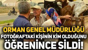 Orman Genel Müdürlüğü, fotoğraftaki kişinin İYİ Partili vekil olduğunu öğrenince sildi!