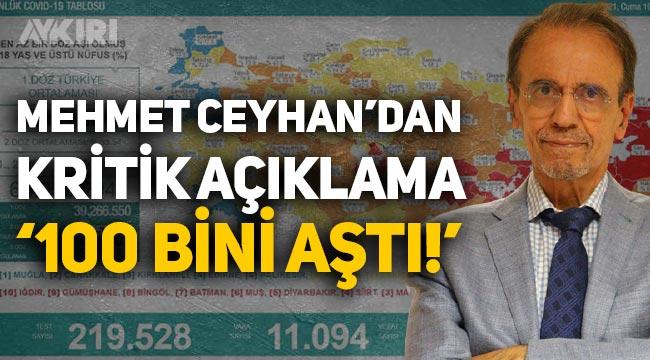 Prof. Dr. Mehmet Ceyhan'dan kritik uyarı: 100 bini geçti!