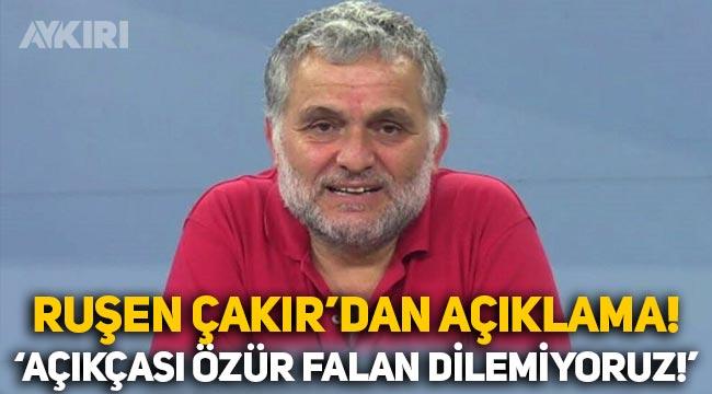 Ruşen Çakır'dan 'fon' eleştirilerine cevap: Açıkçası özür falan dilemiyoruz!