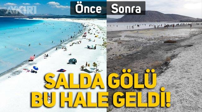 Salda Gölü yok ediliyor! Su 50 metre çekildi, balçık oluştu