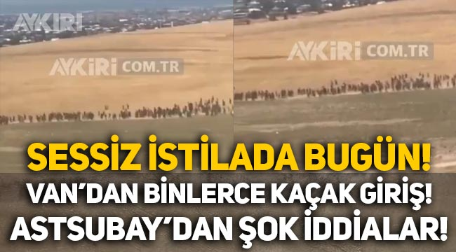 Sessiz istila devam ediyor: Van sınırından kaçak yollarla Türkiye'ye giren binlerce Afgan yine görüntülendi!