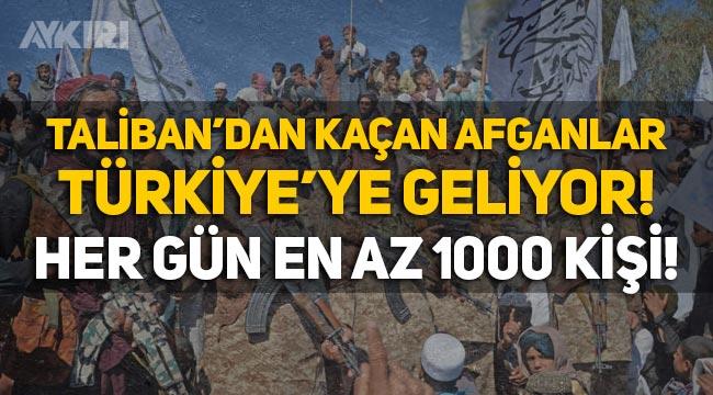 Taliban'dan kaçan Afganlar Türkiye'ye geliyor: Her gün en az bin kişi!