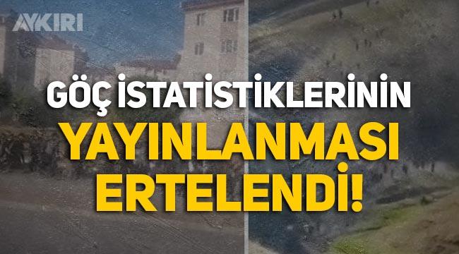 TÜİK, 'göç istatistiklerinin' yayınlanmasını erteledi!