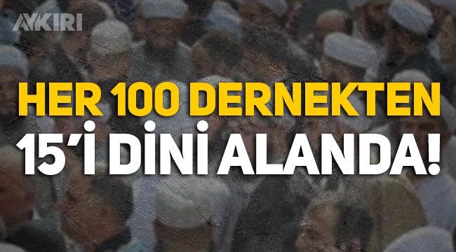 Türkiye'deki her 100 derneğin 15'i dini alanda faaliyet gösteriyor!