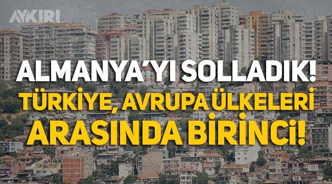 Türkiye, konut fiyatlarının artışında Avrupa ülkeleri arasında yüzde 32'yle birinci!