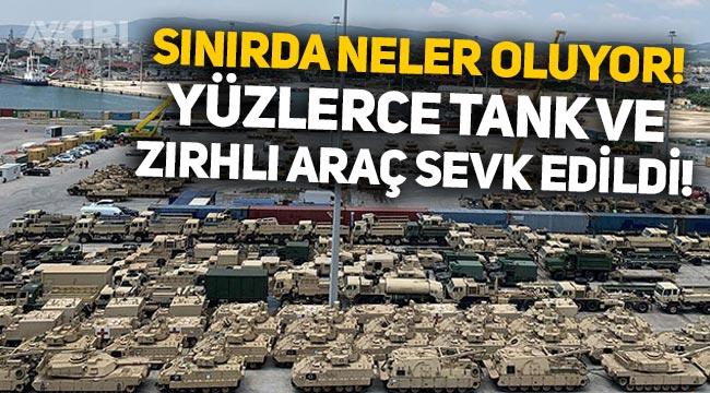 Türkiye sınırında neler oluyor! ABD'den Dedeağaç'a yüzlerce tank ve zırhlı araç sevkiyatı