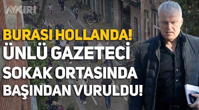 Ünlü gazeteci Peter R de Vries, Hollanda'da başından vuruldu!