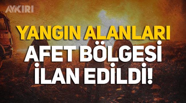 Yangından etkilenen alanlar afet bölgesi ilan edildi!