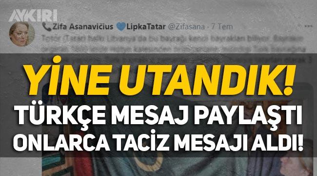 Yine utandık! Zifa Asanavičius, Türkçe mesaj paylaştı onlarca taciz mesajı geldi