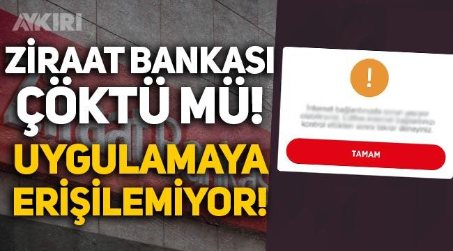 Ziraat Bankası çöktü: Ziraat mobil uygulamaya erişilemiyor!