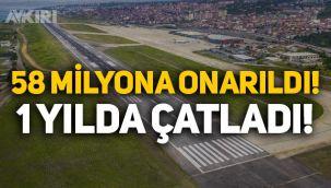 58 milyon liraya onarılan Trabzon Havalimanı'nın pisti bir yılda çatladı!