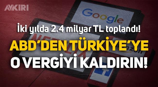 ABD'den Türkiye'ye çağrı: Dijital hizmet vergisini kaldırın!