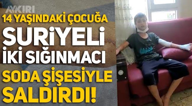 Adana'da Suriyeli 2 kişi, cami avlusunda 14 yaşındaki çocuğa soda şişesiyle saldırdı!