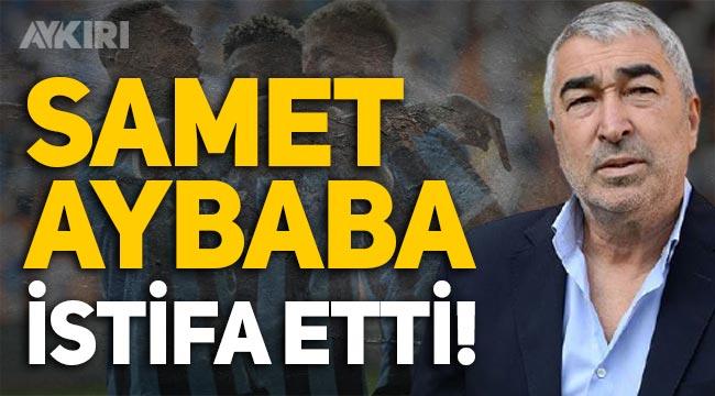 Adana Demirspor'da şok ayrılık: Samet Aybaba istifa etti!