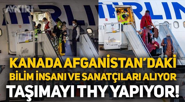 Afganistan'daki eğitimli ve meslek sahibi kişiler, THY uçağıyla Kanada'ya götürülüyor!