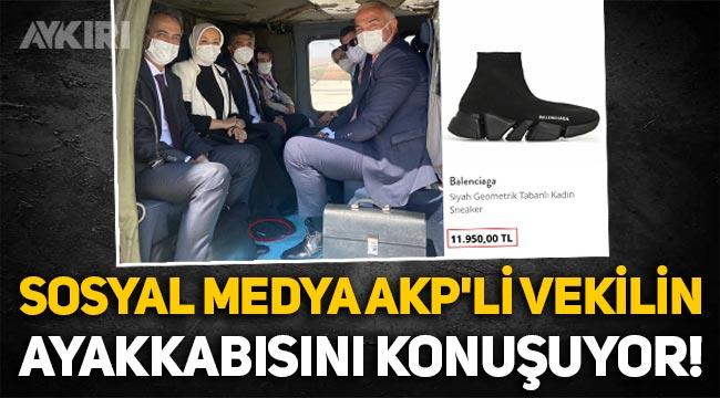 AKP milletvekili Öznur Çalık'ın 12 bin liralık ayakkabısı gündem oldu!