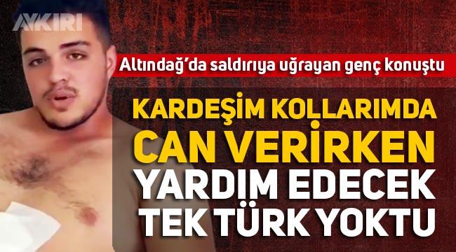 """Altındağ'da Suriyelilerin bıçakladığı Ali Yasin Güler: """"Ülkemde mülteci istemiyorum"""""""