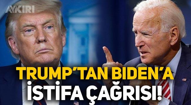 Amerika'da Afganistan tartışması: Trump'tan Biden'a istifa çağrısı!