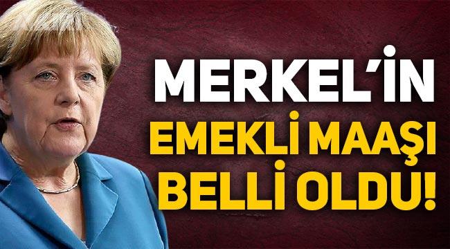 Angela Merkel'in emekli maaşı belli oldu!