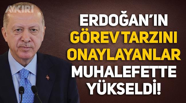 Anket: Erdoğan'ın görev tarzını onaylayanların sayısı muhalefette yükseldi, AKP'de azaldı!