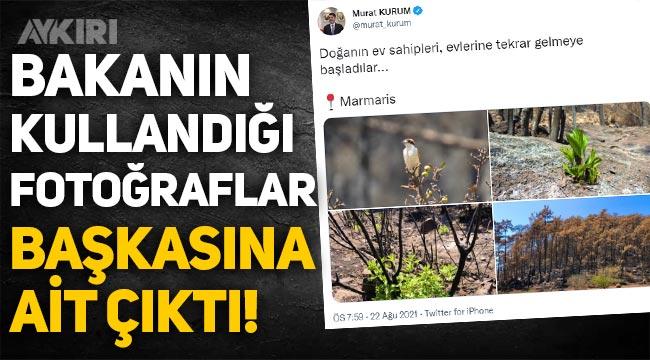 Bakan Murat Kurum'un paylaştığı fotoğraflar başkasına ait çıktı!