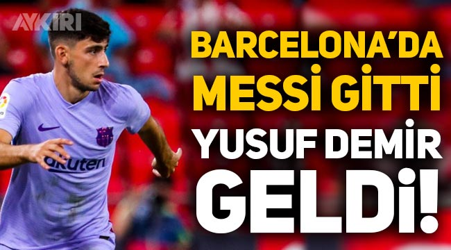 Barcelona'da Lionel Messi gitti, Yusuf Demir geldi: Bir ilke imza attı!