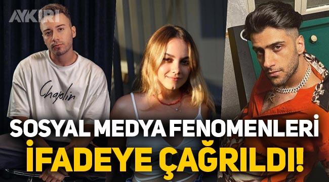 Birçok sosyal medya fenomeni ifadeye çağrıldı: Enes Batur, Reynmen, Ferit Karakaya, Doğan Kabak...