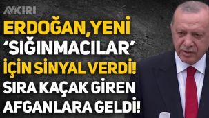Erdoğan'dan 'göçmen' açıklaması! Yeni 'sığınmacı' alınacağının sinyalini verdi!