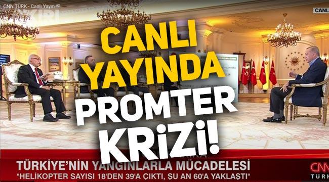 Erdoğan'ın canlı yayınında prompter krizi!