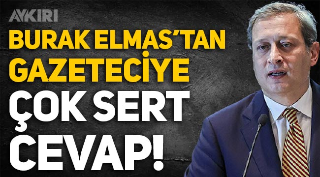 Galatasaray Başkanı Burak Elmas'tan gazeteci Tahir Kum'a sert tepki!