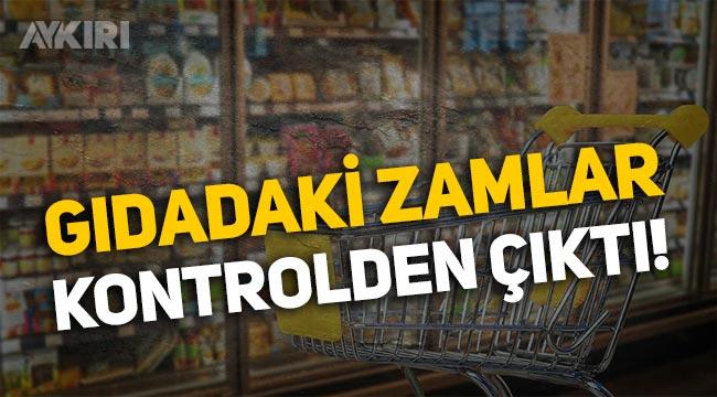 Gıdadaki zamlar kontrolden çıktı: Üretici fiyatı ile girdi fiyatı arasındaki makas açıldı!