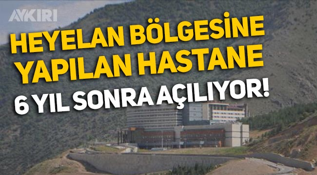 Gümüşhane'de Heyelan bölgesine yapılan hastane 6 yıl sonra açılıyor!