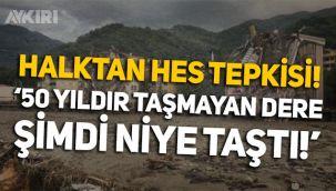 Kastamonu Bozkurt'ta vatandaştan HES'e tepki: