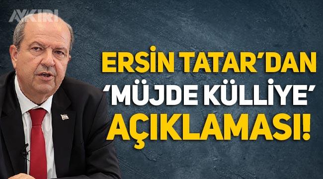 KKTC lideri Ersin Tatar, Erdoğan'ın 'Külliye' müjdesi hakkında konuştu!