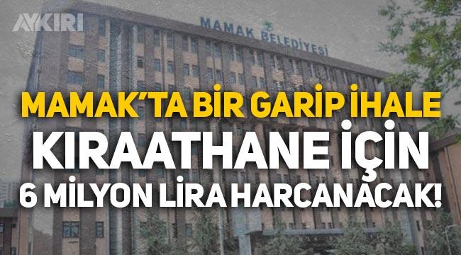 Mamak Belediyesi'nden 6 milyonluk kıraathane ihalesi! AKP'li isim kazandı