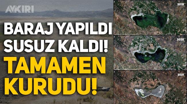 Marmara Gölü baraj yapıldığı için susuz kaldı, tamamen kurudu!