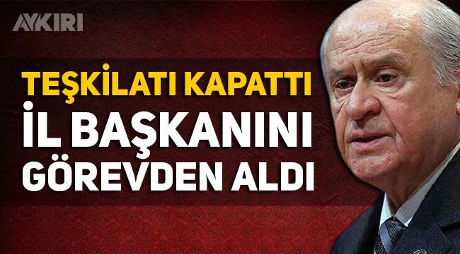 MHP Kayseri il teşkilatı fesh edildi. İl Başkanı Serkan Tok görevden alındı