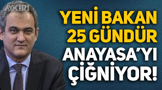 Milli Eğitim Bakanı Mahmut Özer, 25 gündür Anayasa'yı çiğniyor, Meclis'te yemin etmedi!