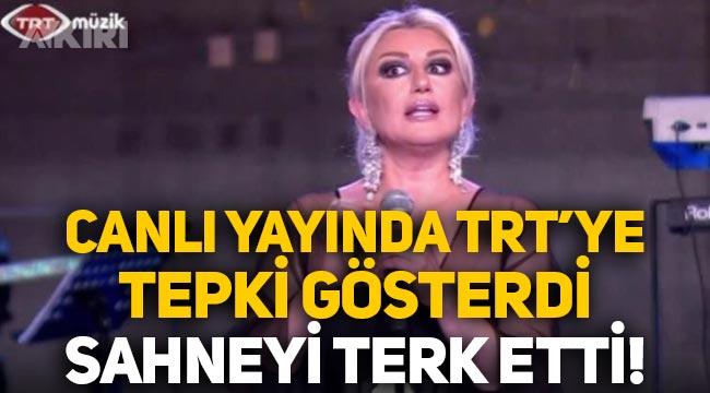 """Muazzez Ersoy, TRT'ye tepki gösterdi, sahneyi terk etti: """"Bu nasıl bir sabotedir anlamıyorum!"""""""