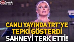 Muazzez Ersoy, TRT'ye tepki gösterdi, sahneyi terk etti: