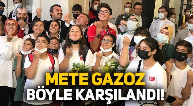 Olimpiyat şampiyonu Mete Gazoz, Türkiye'ye döndü!