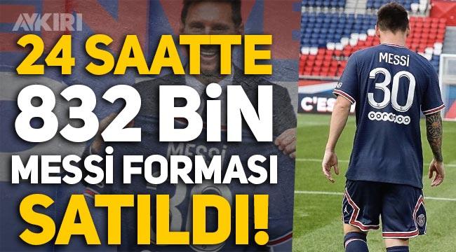 PSG, 24 saatte 832 bin Messi forması sattı, 133 milyon Euro kazandı!