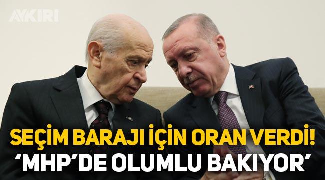 Seçim barajı kaç olacak? Erdoğan'dan seçim barajı açıklaması: MHP'de olumlu bakıyor!