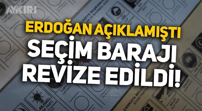 Seçim barajı yüzde 7'den yüzde 5'e düştü iddiası!