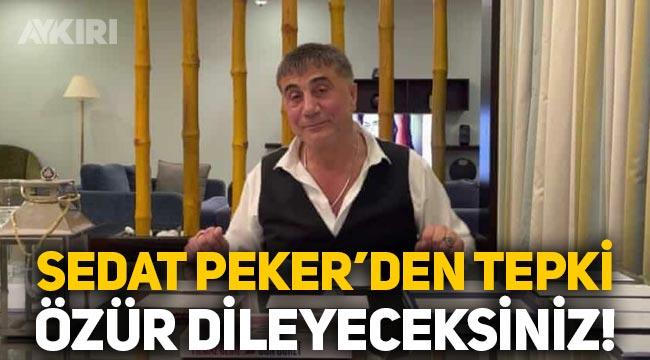 """Sedat Peker'den BAE tepkisi: """"Benden özür dileyeceksiniz!"""""""