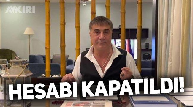 Sedat Peker'in Instagram hesabı kapatıldı