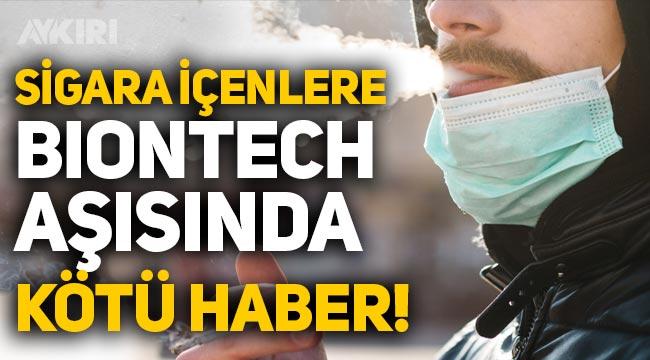 Sigara içenlere Biontech aşısında kötü haber: Antikor seviyesini etkileyebilir